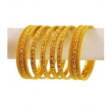 Fancy Golden Color Bangles