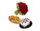1 Pound Cake 2 Kg Sweets 12 Red Roses